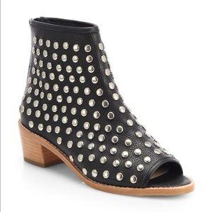 Loeffler Randall Studded Open Toe Ankle Boots